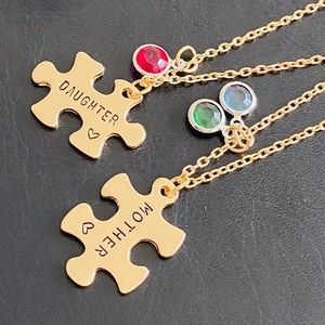 Jewelry - ⭐️NEW⭐️Mother-Daughter Puzzle Pieces Necklace Set